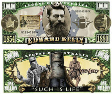 RARE: NED KELLY $1,000,000 Novelty Note, Outlaw, Man Cave. Buy 5 Get one