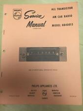 Philips Service Manual for the H840015 1969 International Harvester Truck Radio