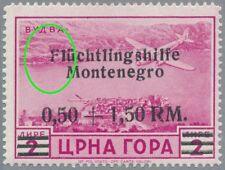 Montenegro Mi.Nr. 28 I Aufdruckfehler, postfrisch, geprüft