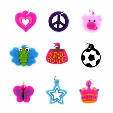 Friendship Charms Bracelet Making 9Pc Colorful Bands Rubber Mixed Craft