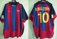 Maillot Barcelone 2003 Football Jersey Fc Barcelona Ronaldinho Nike Vintage - XL