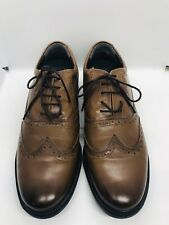 Hush Puppies Brogues UK 11 Wide Brown Lace Up Leather Round Toe Never Been Worn