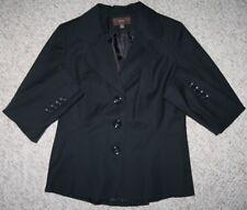 Black Jacket Coat Twelve 12 Black Polyester Blend Button Up Lined Blazer Merona