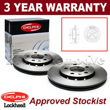 2x Front Delphi Lockheed Brake Discs For Jeep Cherokee 2.4 3.7 BG3846
