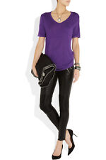T BY ALEXANDER WANG WOMENS PURPLE RELAXED JERSEY T-SHIRT *SIZE: XS/UK 6-8*