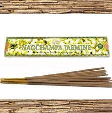 Encens NAG CHAMPA  JASMIN BOITE 15g  PPURE bâtons d'encens 100% Naturel Jasmine