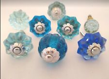Handles for Dresser Fun Kitchen Cabinet Knobs Glass Drawer Pulls -8 Ass/t Blue