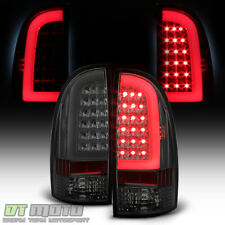 For Smoked 2005-2015 Toyota Tacoma TRD [LED Tube] Tail Lights Brake Lamps 05-15