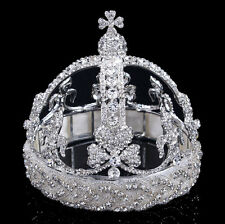 Luxury 13cm High Full Crystal Princess Bridal Party Pageant Prom Tiara Crown