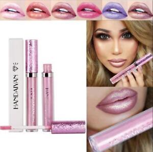 Glitter Matte Liquid Lipstick Waterproof Makeup Lip Gloss Long Lasting