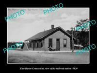 OLD LARGE HISTORIC PHOTO OF EAST HAVEN CONNECTICUT THE RAILROAD STATION c1920