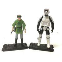 "2x Star Wars Epic Battles Princess Leia Organa vs SCOUT TROOPER 3.75"" figure toy"