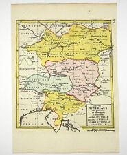 ÖSTERREICH TIROL LINZ WIEN KRAIN EUROPA KOL KUPFERSTICH KARTE FRANZ 1758 #D867S
