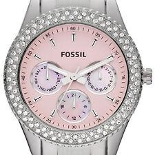Fossil ES2946 Stella MultiFuction Pink Dial Ladies Swarovski Crystals Date Watch