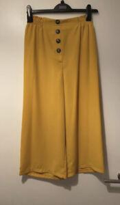 Mustard lightweight culottes, size 10