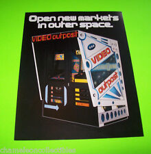 1980s VIDEO OUTPOST ORIGINAL ARCADE GAME BOOTH SALES FLYER BROCHURE