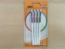 BIC Cristal Up Ballpoint Pens - Assorted Colours, in 4 Black,Blue,Red&Green(H560