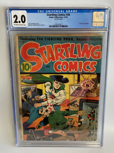 Startling Comics #36 CGC 2.0 (1945) Golden Age Fighting Yank, Alex Schomburg
