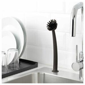 IKEA RINNIG dish-washing brush grey