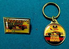 Vintage NASCAR American Auto Parts Stevie Reeves Pin And Key Ring