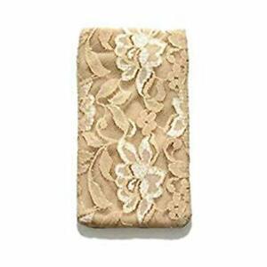 Braza Secret Stash Lace Bra Travel Pocket Pouch,Beige,one size