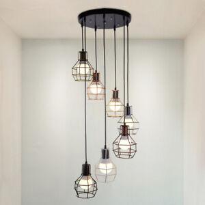 New Retro multi-lamp LED chandelier Pendant Lamp Suspension Light Ceiling lights
