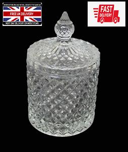 High Quality Sugar Crystal Glass Home Sweets Fancy Glassware Crystal Jar