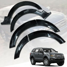 FENDER FLARES FLARE WHEEL ARCH GLOSS BLACK FOR FORD EVEREST SUV 2015 16 17 18
