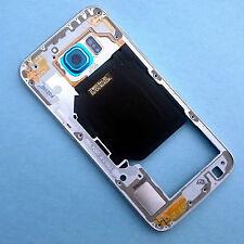 100% Original Samsung Galaxy S6 g920f Topacio Azul Traseros Laterales vivienda + Cámara De Vidrio