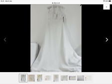 Berketex Bride Wedding Dress Size 12 Julian & Adam Halter Neck
