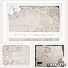 Wedding Invitation Cards & Envelopes M&S Glitter Flower Marks & Spencer 25 Cards