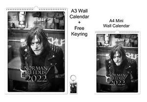 Norman Reedus 2022 A3 A4 Wall Office Calendar + Key Ring