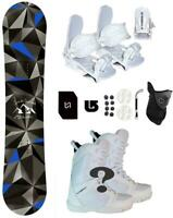 100 Symbolic Arctic Girl Snowboard+Binding+Boots Package+Stp+Lesh+Mask burton 3d