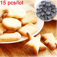 15pcs / set geometría cortador de galleta chocolate molde Decoración de torta