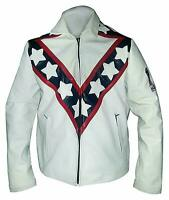 Men Vintage Evel Knievel Stunt Performer Biker Cafe Racer style leather Jacket