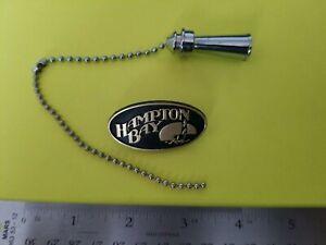 Hampton Bay snap on Ceiling Fan logo black & gold with modern Hampton pull chain