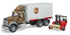 Bruder 02828 MACK Granite UPS Logistics Truck with Forklift MIB/New