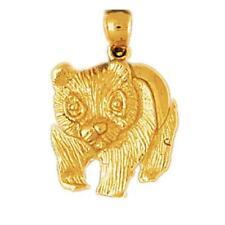 14k Yellow Gold PANDA BEAR Pendant / Charm, Made in USA