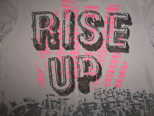 """Decoded Brand """"Rise Up"""" Army Military Soldiers Gray Graphic Print T Shirt - L"""