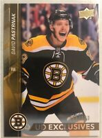 2015-16 Upper Deck Exclusives David Pastrnak Boston Bruins #/100 Rare