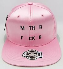 Embroidered Shiny Satin Snapback OSFM Adult Cap Hat Mthr Fckr Pink NWT