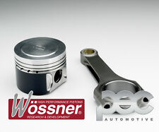 8.0:1 Mitsubishi Evo 9 2.0T 16V Wossner Forged Pistons + PEC Steel Rods