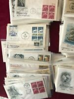 USA First Day of Issue covers. 400 All Cacheted and Unaddressed. Mostly Sleeved