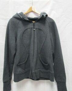 Lululemon Hoodie Sweatshirt Jacket Cotton Size 10 Grey Silver Fleck