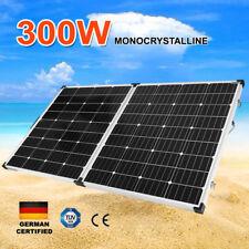 300W Folding Solar Panel Kit 12V Caravan Camping Power Mono Charging 300Watt