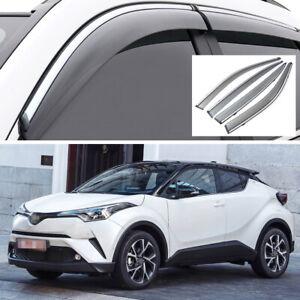 Car Window Visor Vent Shade Deflector Sun/Rain for Toyota C-HR CHR 2017-2020
