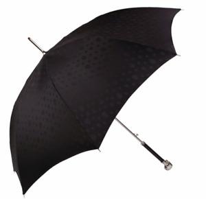 """AMQ Alexander McQUEEN """"Swarovski-Embellished"""" Skull Long Umbrella SILVER"""