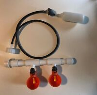 Chicken Bucket Drinker 2 Cup System Kit Automatic Water PVC poultry float valve