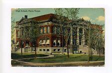 Paris TX Texas (Lamar Co) 1911 High School, see students?, antique postcard