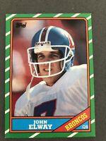 John Elway 1986 Topps # 112 Denver Broncos HOF Stanford NM